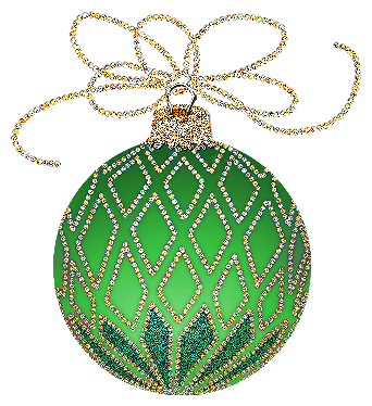 Green christmas ornament png. And gold clipart gallery