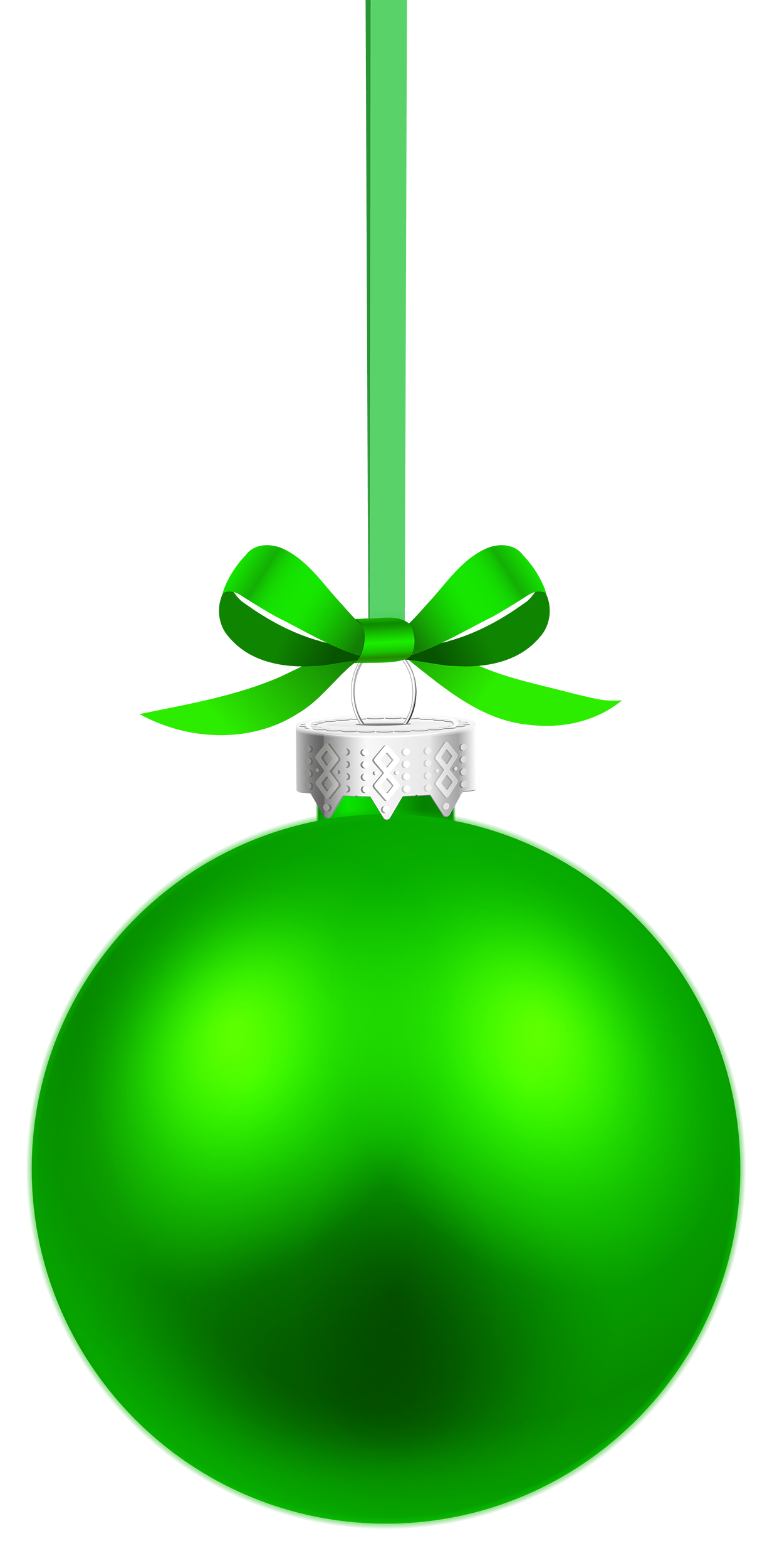 Green christmas ornament png. Hanging ball clipart best