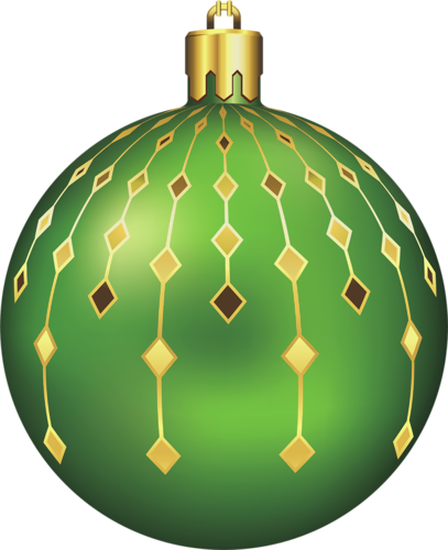 Green christmas ornaments png. Large transparent ball clipart