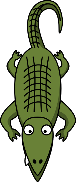 Clip art at clker. Vector alligator clipart black clip free stock