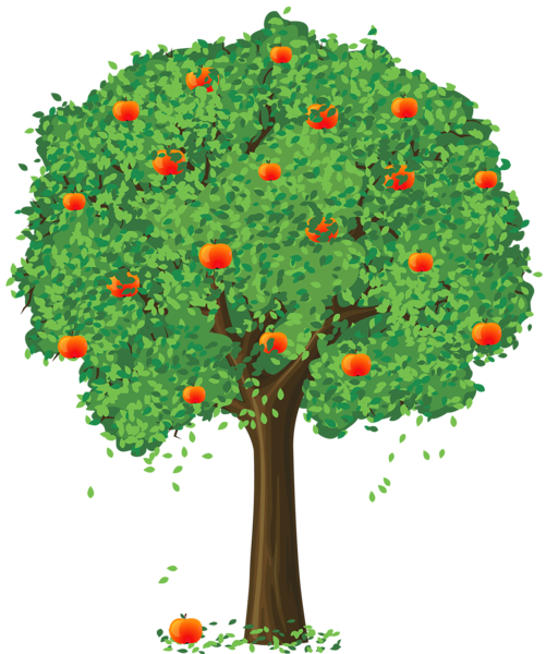 small clipart apple tree