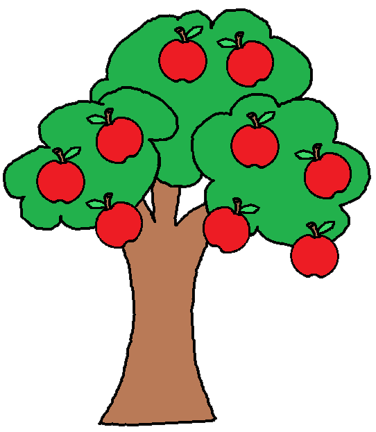 Small clipart apple tree.