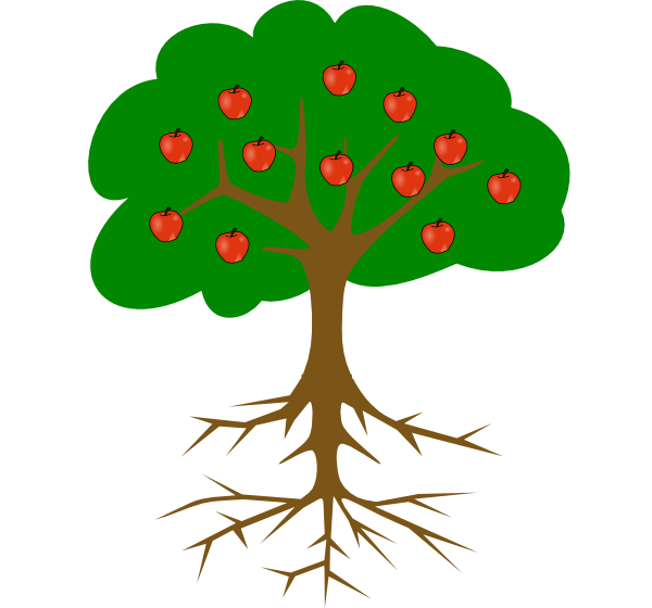 Green clipart apple tree. Panda free images groundclipart