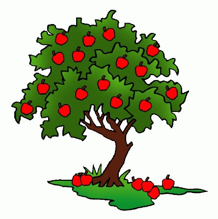 green clipart apple tree