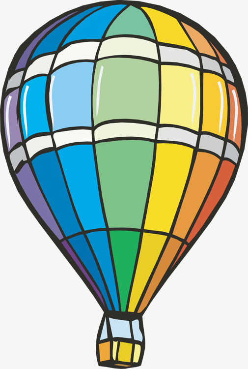 Green clipart hot air balloon. Hand painted graphic handpainted