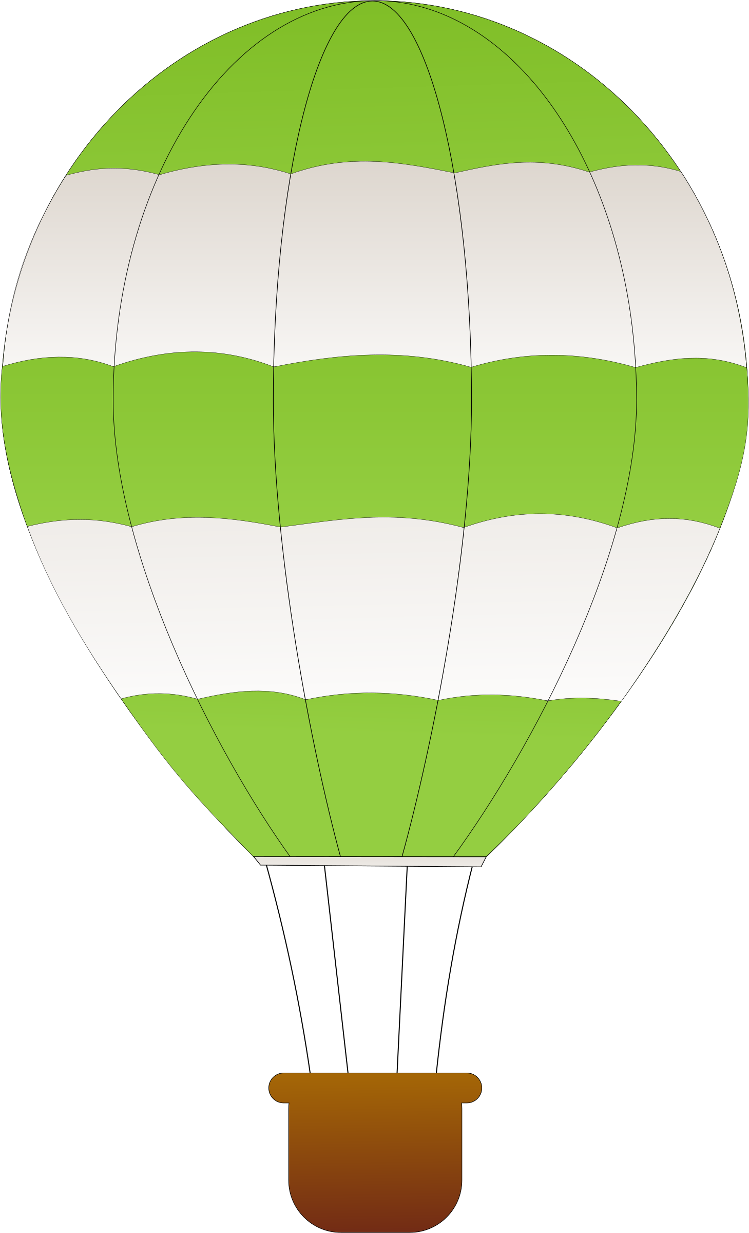 Green clipart hot air balloon. Horizontal striped balloons big