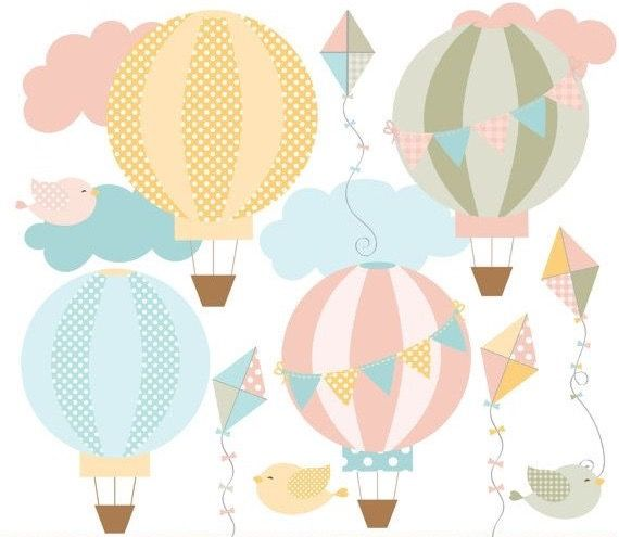 Green clipart hot air balloon. Balloons baby first year