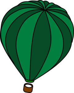 Green clipart hot air balloon. Clip art at clker