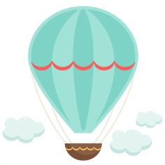 Green clipart hot air balloon. And kite pastel pink