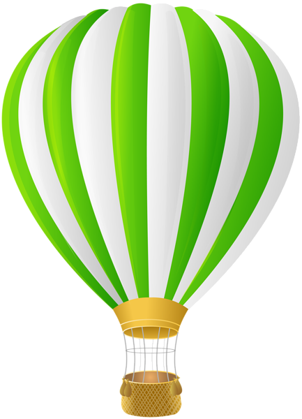 Hot air balloon silhouette png. Green transparent clip art