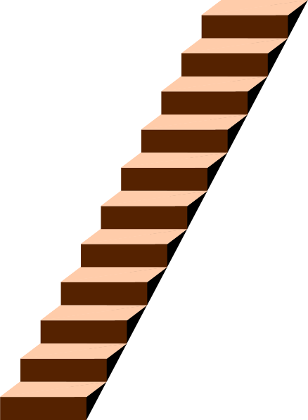 Staircase vector stair step. Free clipart download clip