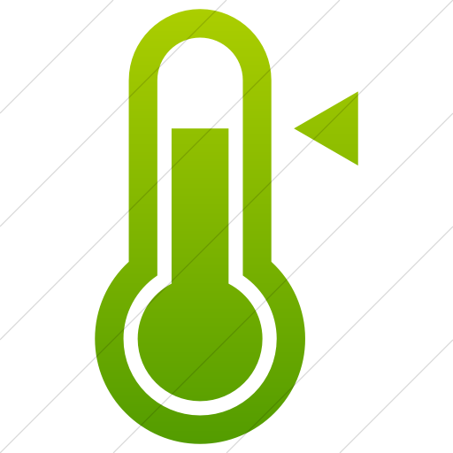 Green clipart thermometer. Iconsetc simple gradient raphael