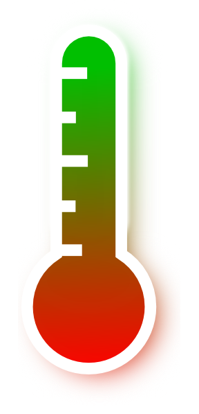 Green clipart thermometer. Red to gradient clip