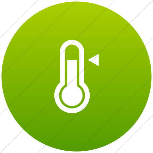 Green clipart thermometer. Iconsetc flat circle white