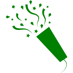 Green confetti png. Icon free party icons