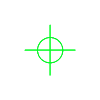 Crosshairs green png. Roblox
