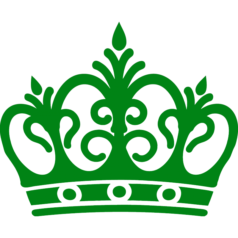Green crown png. Queen macbook stickers for