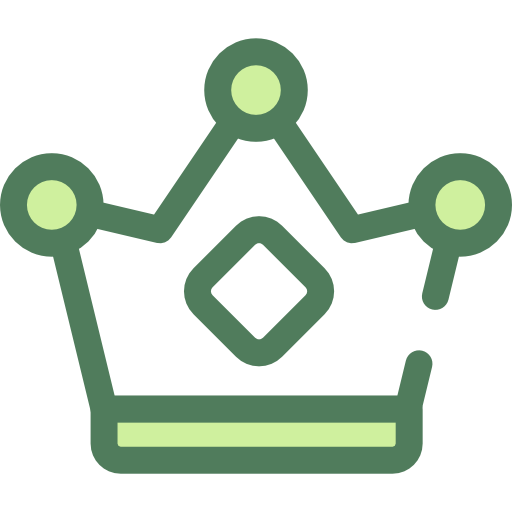 Green crown png. Icon svg