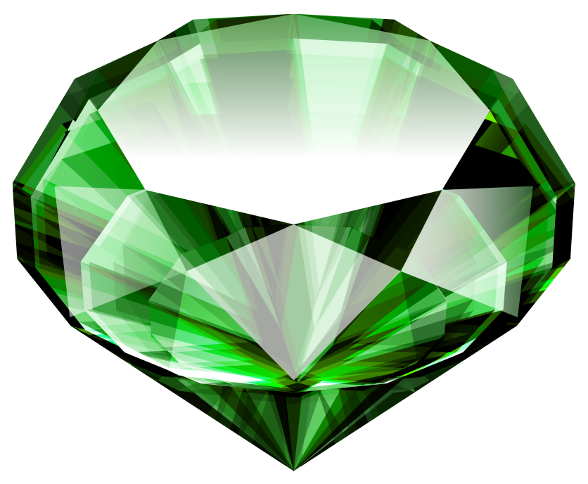 Green crystal png. Large emerald image purepng