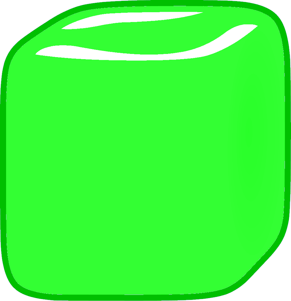 Green cube png. Image ice body new