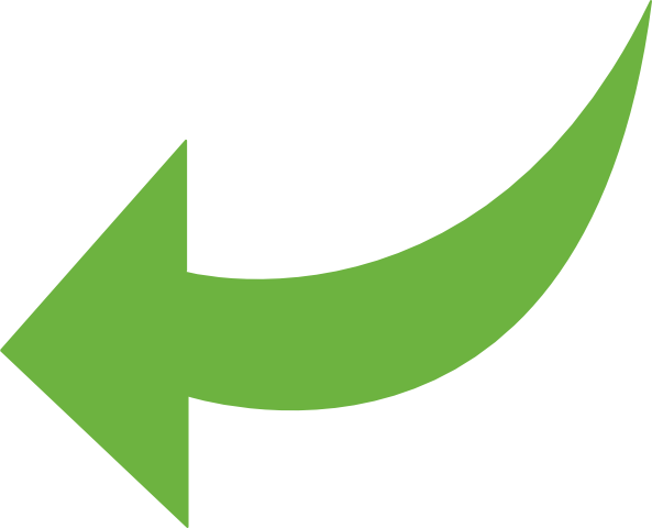Vector wind arrow. Free curved green icon