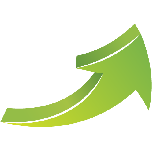 Vector curve design. Free curved green arrow