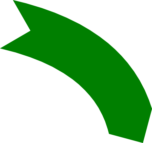 Up vector curve. Green arrow clip art