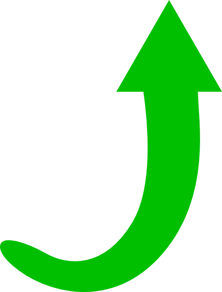 Green curved arrow png. Clipart