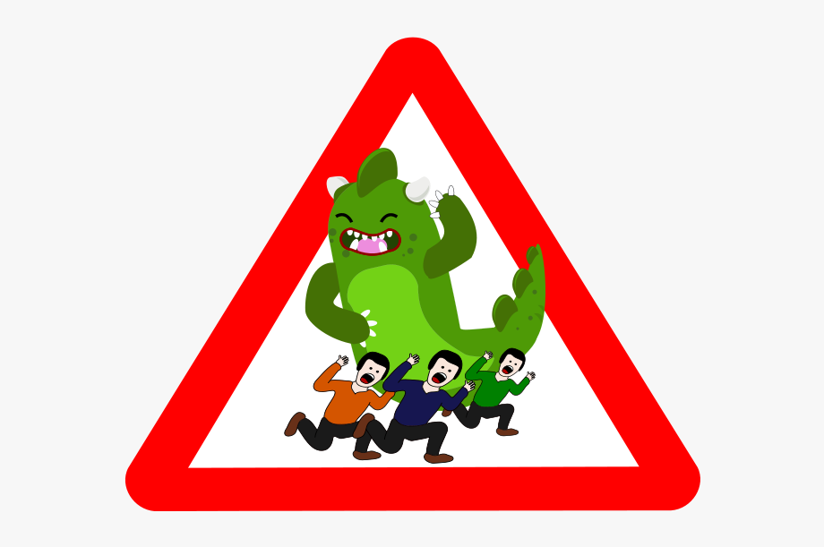 Green danger. Clip arts related to
