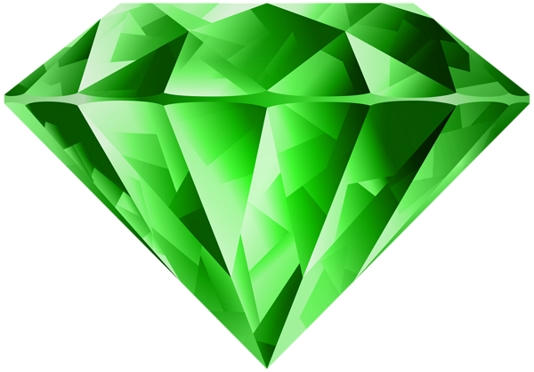 Emerald vector gem. Green diamond transparent png