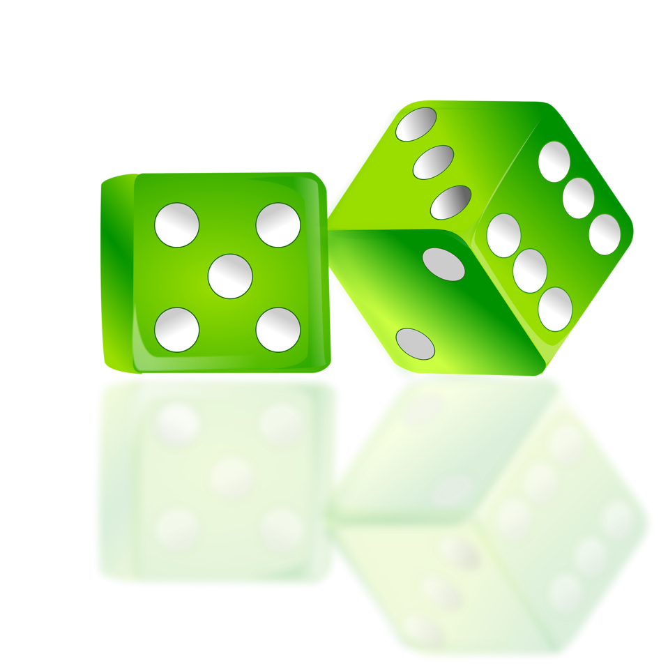 Green dice png. Free stock photo illustration