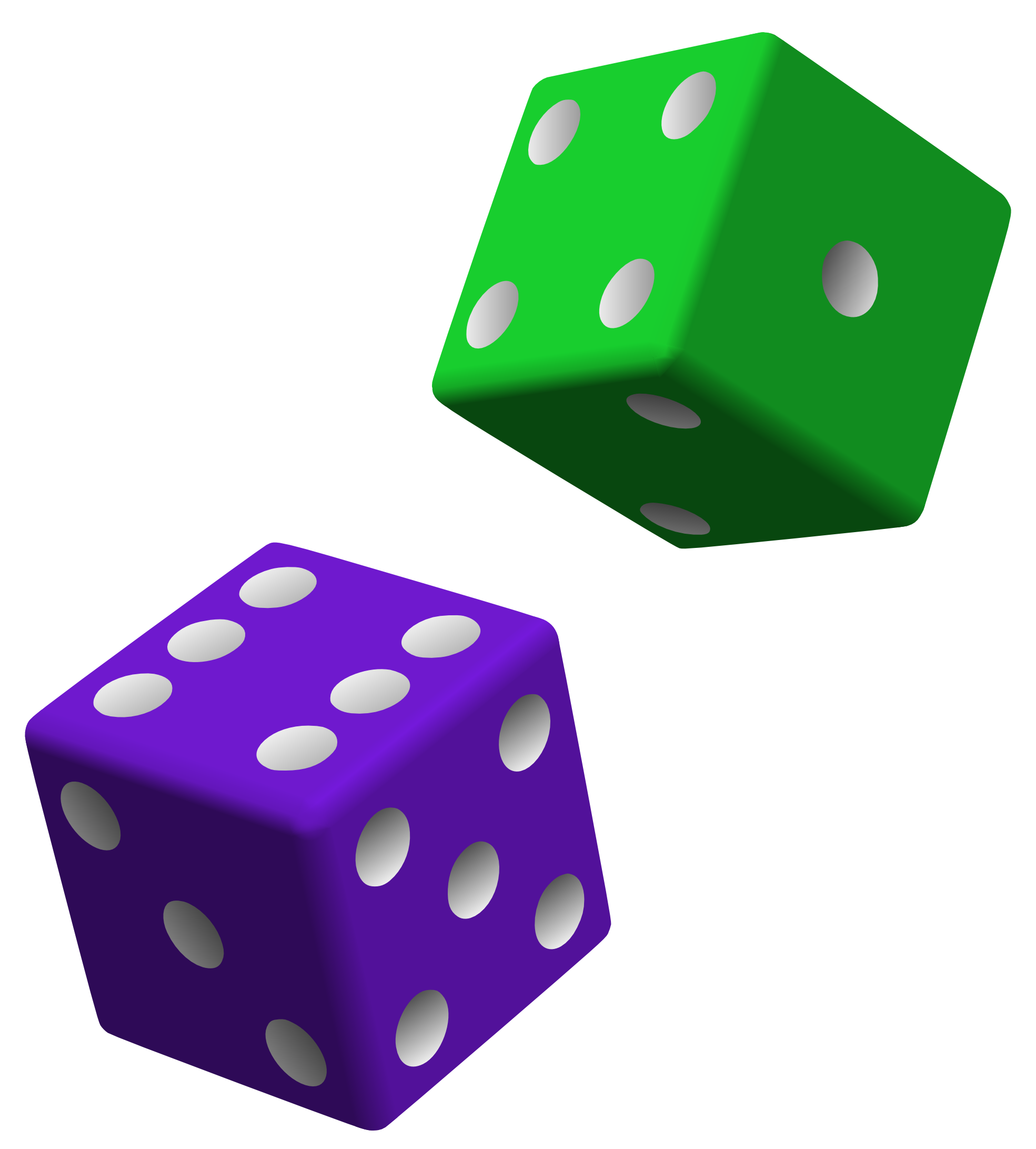 Dice clipart colored dice. Purple green png free