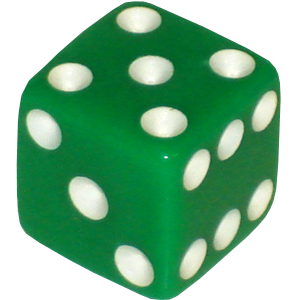 Green dice png.