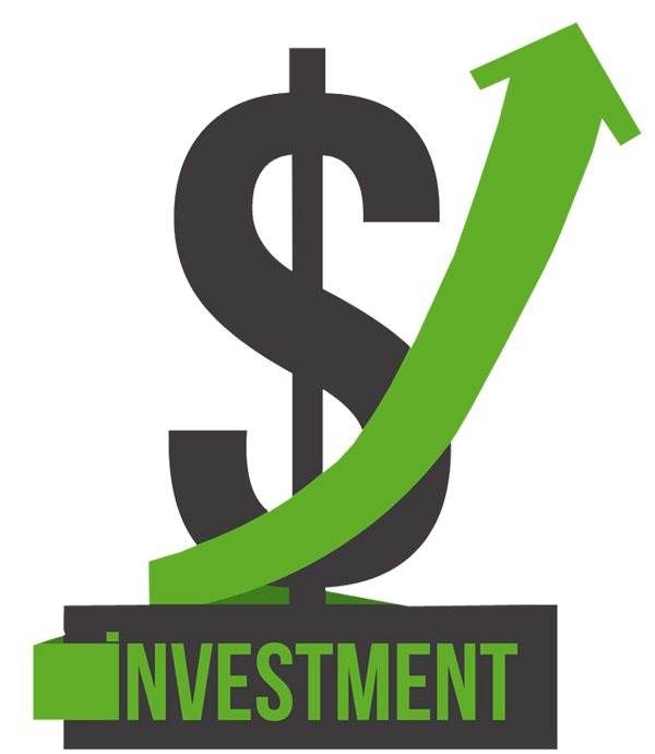 Green dollar signs png. Sign with going up