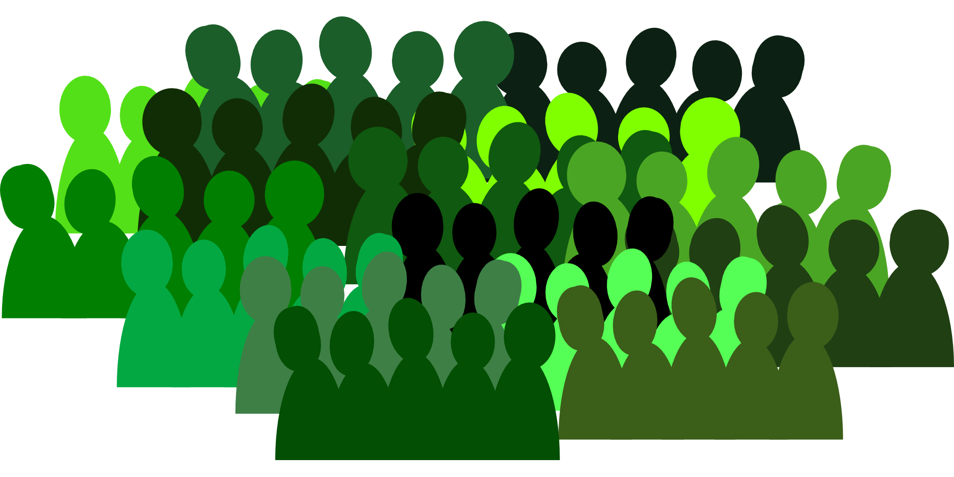 People group crowd isolated. Team drawing png stock