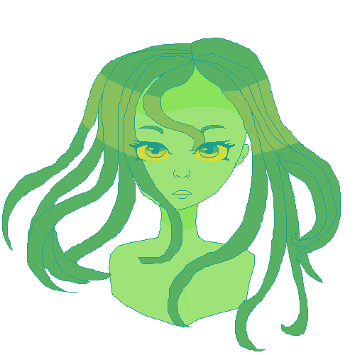 Green drawing detailed. Pixilart more poofball by