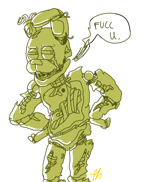 Green drawing doodle. Fnaf what a grump