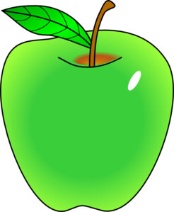 Green drawing fruit. Bowl with shading clipart
