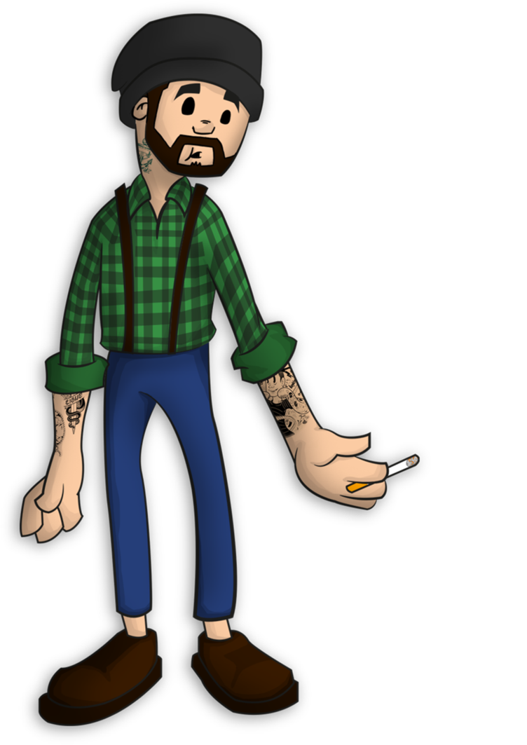Green drawing hipster. Guy by theniueanone on