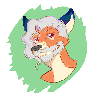 Green drawing hipster. Fox boy by krupse