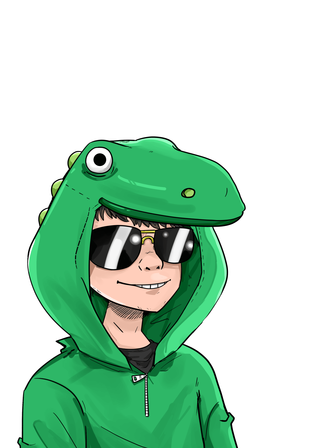 Green drawing hood. Draw your in gorillaz
