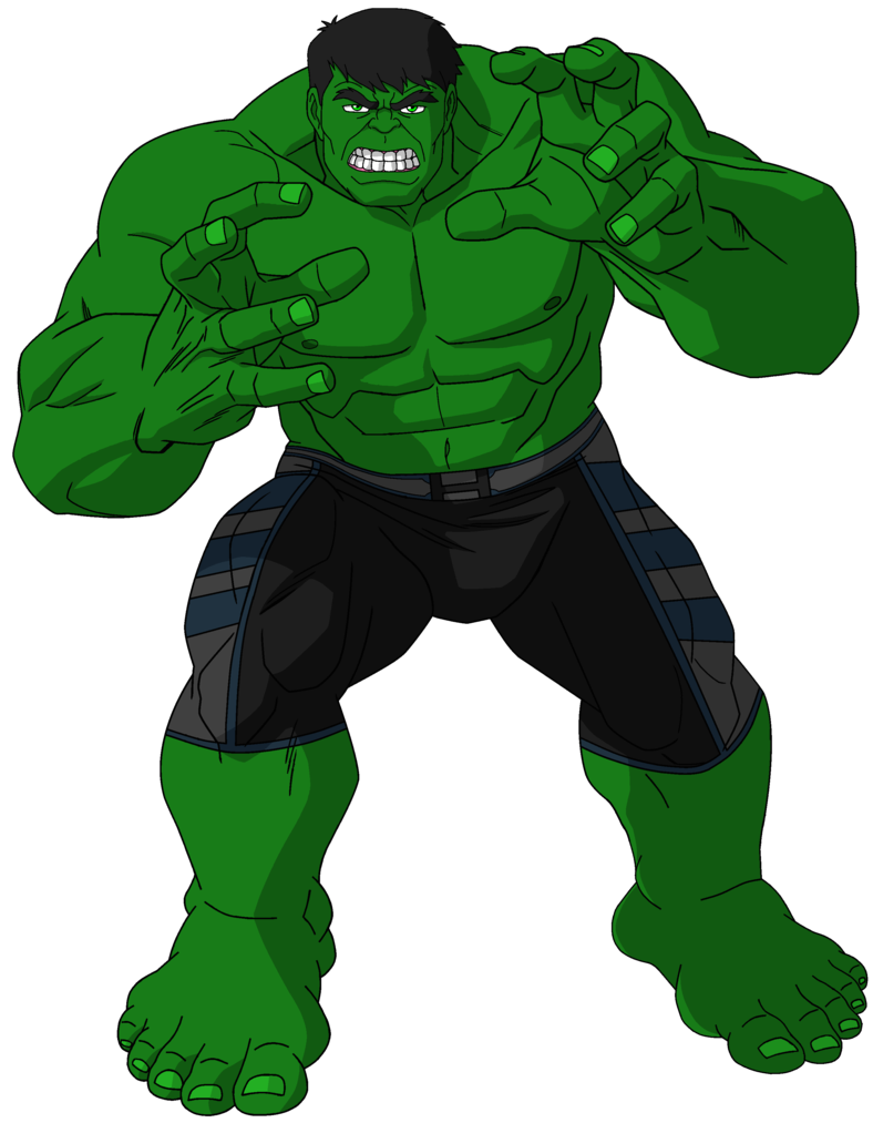 Green drawing hulk. The defender of earth