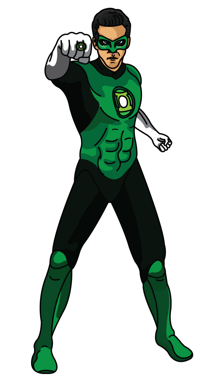 Green drawing lantern. Try our step tracing