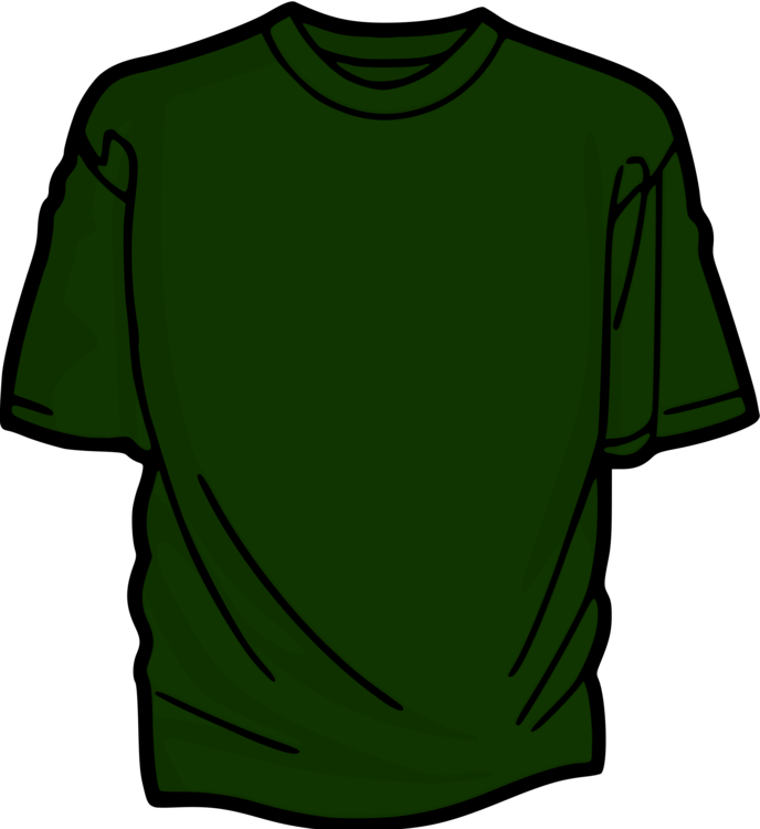 Green drawing t shirt. Sleeve clothing free commercial