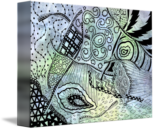 Tangle drawing kid. Zentangle ribbons by kristen
