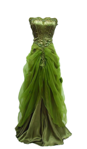 Green dress png. Gown by avalonsinspirational would