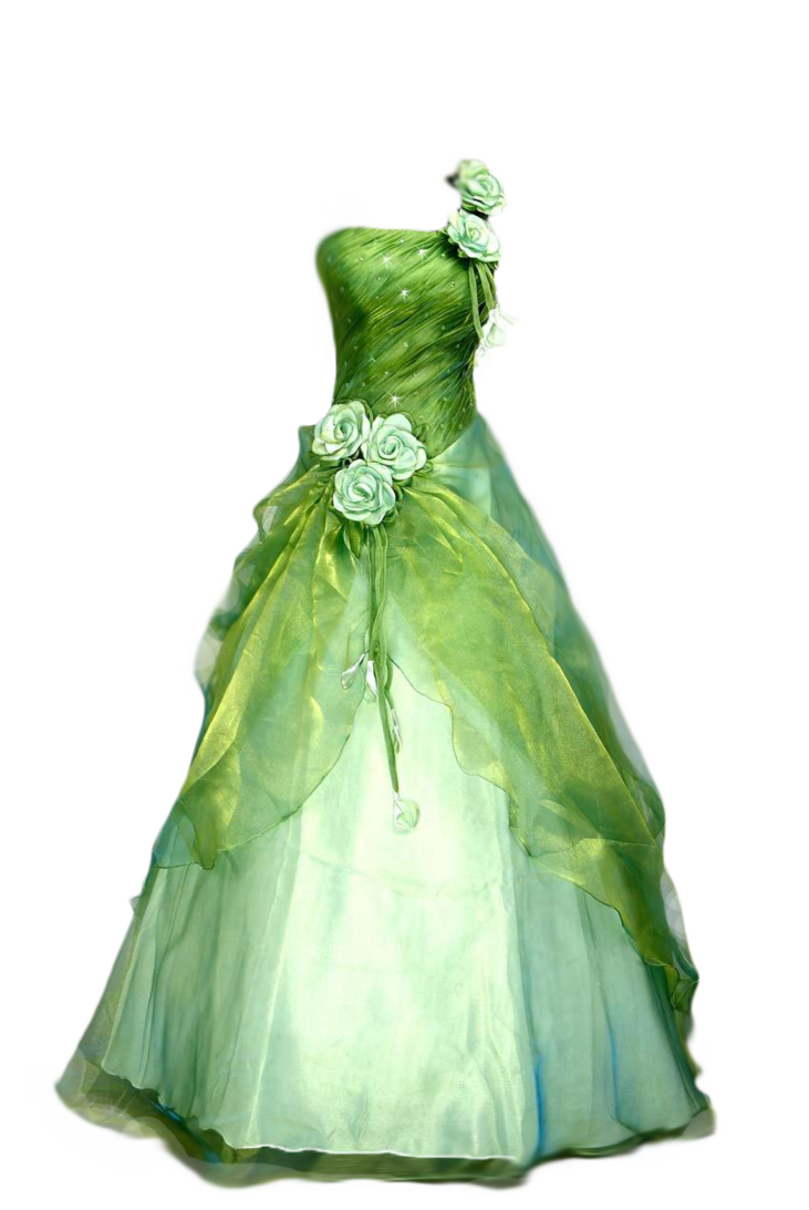 Green dress png. Gown by avalonsinspirational on