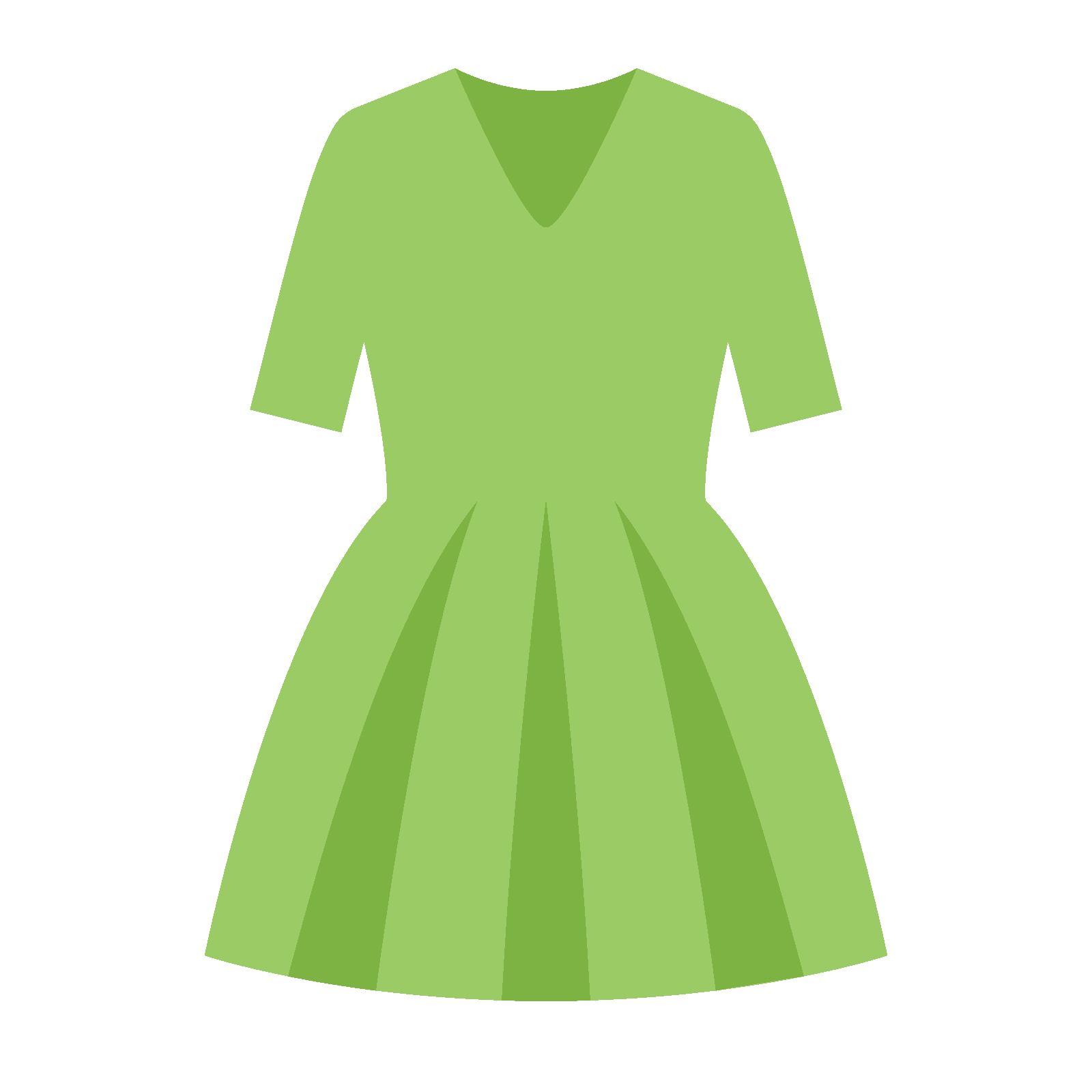 Green dress png. Icon free download and