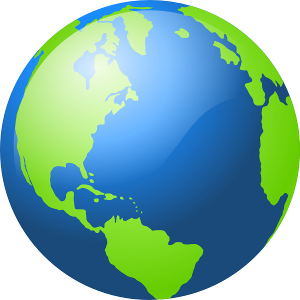 Green earth png. Large blue and clip