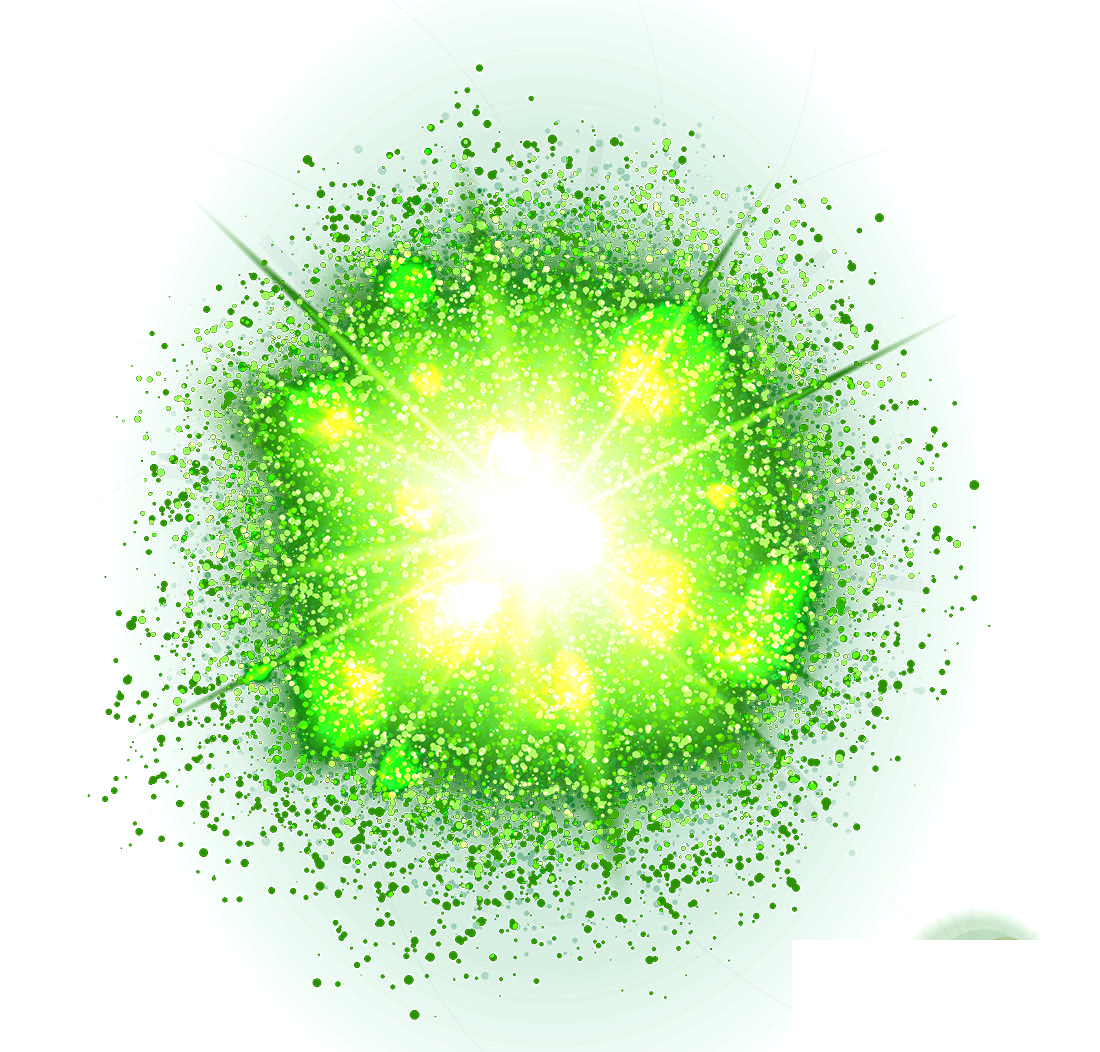 Green effect png. Light gratis round transprent